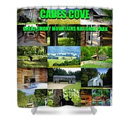 Cades Cove Collage Shower Curtain