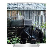 Cade's Cove Historic Cable Mill Water Wheel Shower Curtain