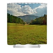 Cades Cove Pasture Shower Curtain
