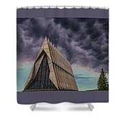 Cadet Chapel At The United States Air Force Academy Shower Curtain