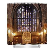Cadet Chapel With Stained Glass Windows Shower Curtain