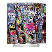 Cadillac Ranch Afternoon II Shower Curtain