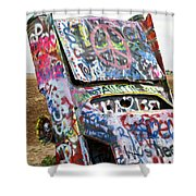 Cadillac Ranch Shower Curtain