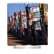 Cadillac Ranch Route 66 Shower Curtain