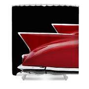 Cadillac Sharp Edged Fins Shower Curtain