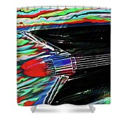 Cadillac Tail Fin Guitar Fantasy Shower Curtain