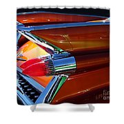 Cadillac Tail Fin View Shower Curtain