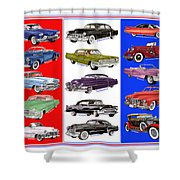 15 Cadillacs The Poster Shower Curtain