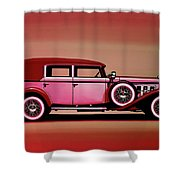 Cadillac V16 Mixed Media Shower Curtain