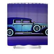 Cadillac V16 1930 Painting Shower Curtain