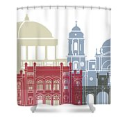 Cadiz Skyline Poster Shower Curtain