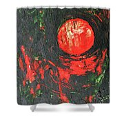Cadmium And Green Shower Curtain