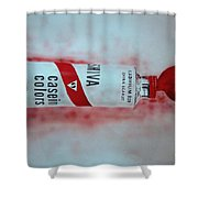 Cadmium Red Shower Curtain