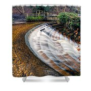 Caeau Weir Shower Curtain