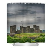 Caerphilly Castle East View 3 Shower Curtain