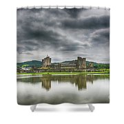 Caerphilly Castle North View 1 Shower Curtain