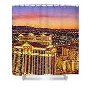 Caesars Palace After Sunset 6 To 3.5 Aspect Ratio Shower Curtain