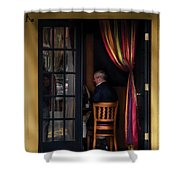 Cafe - Brunch Shower Curtain by Mike Savad