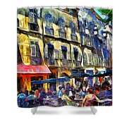 Cafe 2 Provence Shower Curtain
