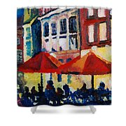 Cafe Al Fresca Shower Curtain