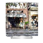 Cafe Beignet Summer Day Shower Curtain