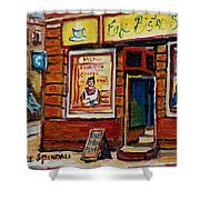Cafe Bistro St. Viateur Shower Curtain