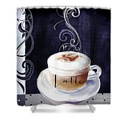 Cafe Blue II Shower Curtain