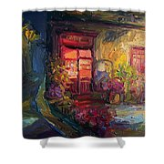 Cafe Camelot  Shower Curtain