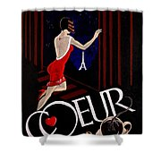Cafe Coeur 1 Shower Curtain