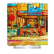 Cafe Coin Des Artistes Shower Curtain