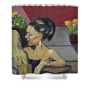Cafe Commune Shower Curtain