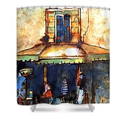 Cafe De L'apres-midi Shower Curtain