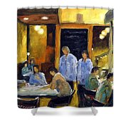 Cafe Des Artistes Shower Curtain