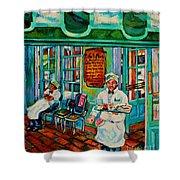 Cafe Du Monde Revisited  Shower Curtain