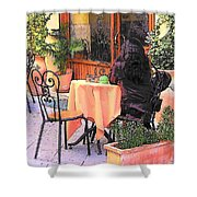 Cafe In Montepulciano Tuscany Shower Curtain
