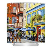 Cafe In The Old Quebec Shower Curtain
