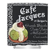 Cafe Jacques Shower Curtain