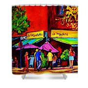 Cafe La Moulerie On Bernard Shower Curtain