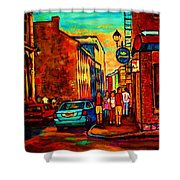 Cafe Le Vieux Port Shower Curtain