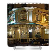 Cafe Louis Philippe Shower Curtain