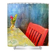 Cafe Menu Background Shower Curtain