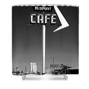 Cafe Midpoint Shower Curtain