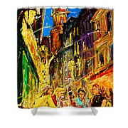 Cafe Of Amsterdam At Night  Shower Curtain