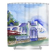 Cafe On The Corner Shower Curtain