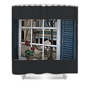 Cafe On The Left Bank Of Paris Shower Curtain