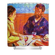 Cafe Renoir Shower Curtain
