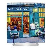 Cafe Restaurant Shower Curtain