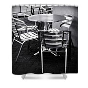 Cafe Seating Shower Curtain