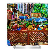 Cafe Second Cup Shower Curtain
