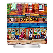 Cafe Second Cup Terrace Shower Curtain